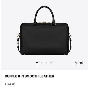 Saint Laurent 6 Duffle Crossbody Retail $2550 Used